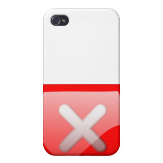 Red X Button iPhone 4 Cover
