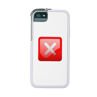 Red X Button iPhone 5/5S Case
