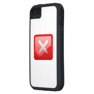 Red X Button iPhone 5 Cases