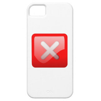 Red X Button iPhone 5 Covers