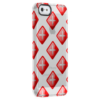 Red X Button Uncommon Clearly™ Deflector iPhone 5 Case