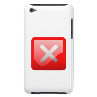 Red X Button iPod Touch Covers