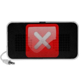 Red X Button Mini Speakers