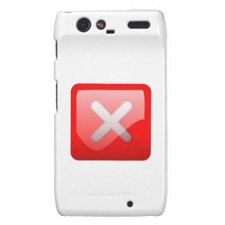 Red X Button Motorola Droid RAZR Cover