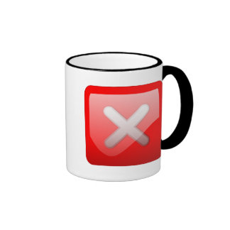 Red X Button Mugs