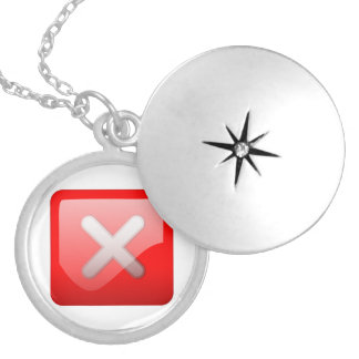 Red X Button Pendants