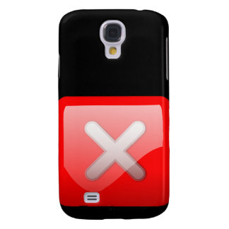 Red X Button Samsung Galaxy S4 Cases