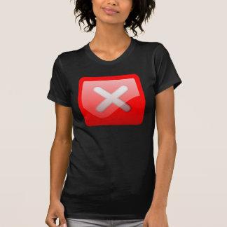 Red X Button Shirt