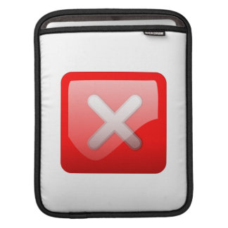 Red X Button Sleeves For iPads