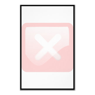Red X Button Stationery Design