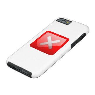 Red X Button Tough iPhone 6 Case