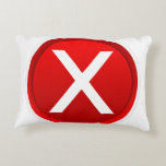 Red X - No / Incorrect Symbol Accent Pillow
