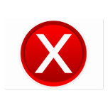 Red X - No / Incorrect Symbol Business Cards