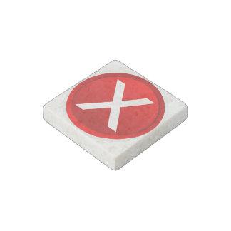 Red X - No / Incorrect Symbol Stone Magnet