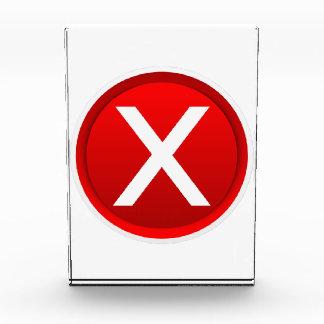 Red X - No - Symbol Acrylic Award