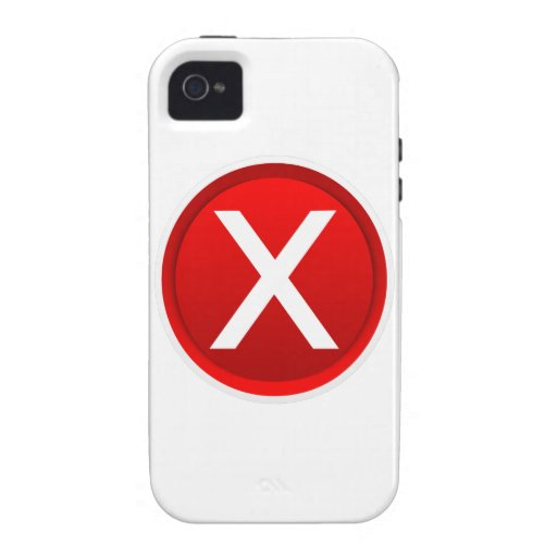 Red X - No - Symbol Case-Mate iPhone 4 Covers