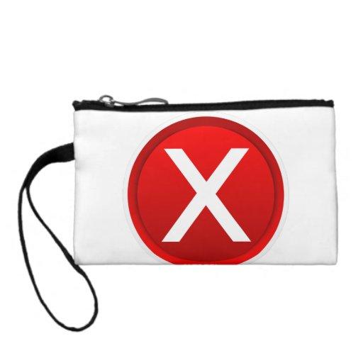 Red X - No - Symbol Change Purse