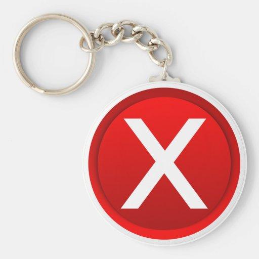 Red X - No - Symbol Keychains