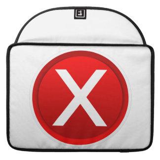 Red X - No - Symbol MacBook Pro Sleeve