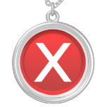 Red X - No - Symbol Necklace