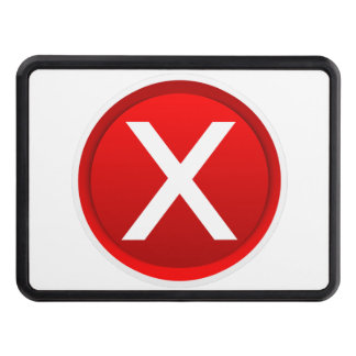 Red X - No - Symbol Trailer Hitch Covers
