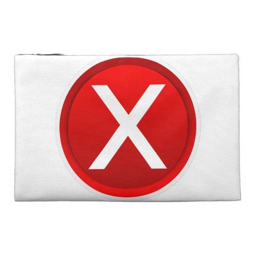 Red X - No - Symbol Travel Accessories Bag