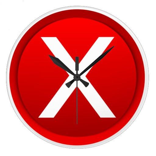 Red X - No - Symbol Wallclocks