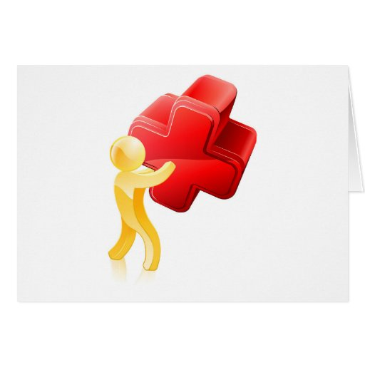 Red X person Greeting Card