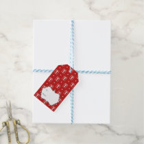 red xmas gifts winter holidays pattern gift tags