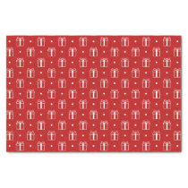 red xmas gifts winter holidays pattern tissue paper
