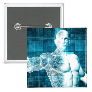 Red y protección de datos de la seguridad pin cuadrado