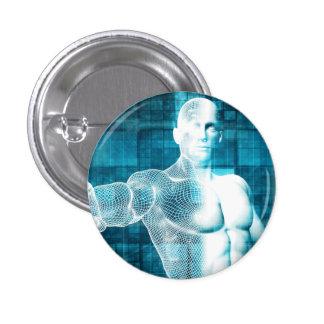Red y protección de datos de la seguridad pin redondo de 1 pulgada