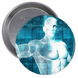 Red y protección de datos de la seguridad pin redondo de 4 pulgadas