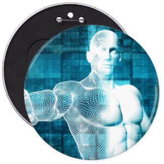 Red y protección de datos de la seguridad pin redondo de 6 pulgadas