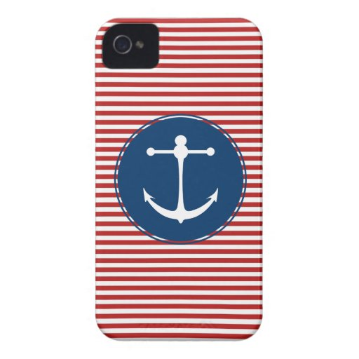 Red Yacht Club Pattern Case-Mate iPhone 4 Case