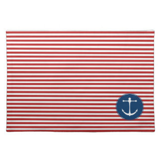 Red Yacht Club Pattern Cloth Placemat