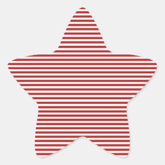 Red Yacht Club Pattern Star Sticker