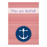 Red Yacht Club Personalized Invite
