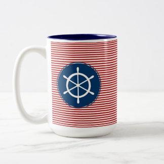 Red Yacht Club Two-Tone Coffee Mug
