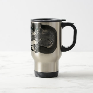 Red Yarn Ball & Earl Gray, the Kitten 15 Oz Stainless Steel Travel Mug