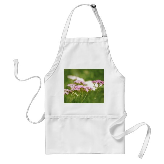 Red Yarrow Flowers Adult Apron