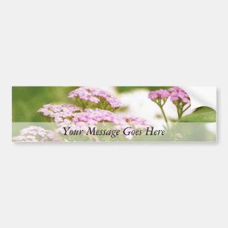 Red Yarrow Flowers Bumper Sticker