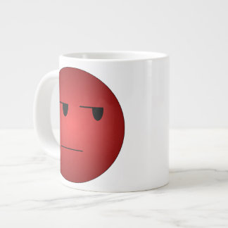 Red Yeah Right Smiley Giant Coffee Mug