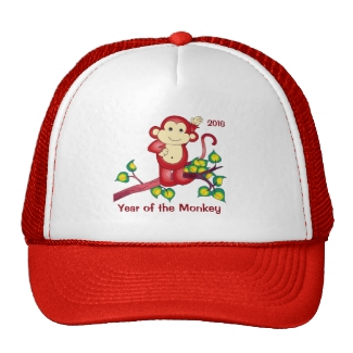 Red Year of the Monkey Hat