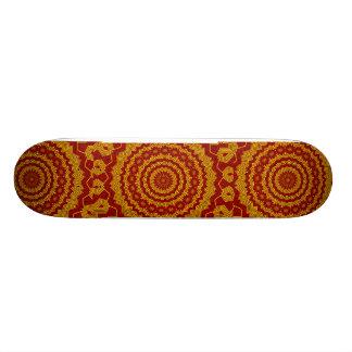 Red & Yellow #2_ Skateboard Deck