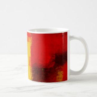 Red Yellow Abstract Coffee Mug