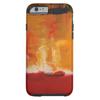 Red Yellow Abstract Expressionist Artwork Tough iPhone 6 Case