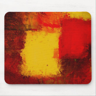Red Yellow Abstract Mousepads