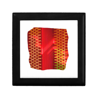 Red Yellow Abstract Stairs Cutout Picture Jewelry Box