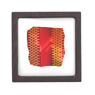 Red Yellow Abstract Stairs Cutout Picture Premium Jewelry Box